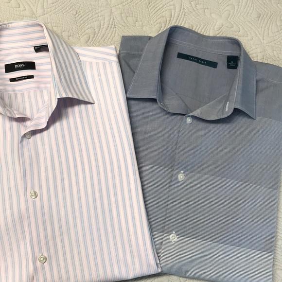 479bbe608 Hugo Boss Shirts | Lot 2 Mens Boss Casualdress Long Sleeve | Poshmark